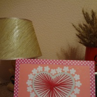 Мастер-класс по изготовлению открытки «Сердечко» с использованием ниткографии