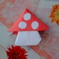 Гриб «Мухомор» в технике оригами