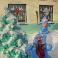 Новогодние фантазии на участке детского сада в 2016–2017 году