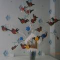 Коллективная творческая работа «Птички-невелички зимой» в младшей группе