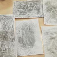 Конспект занятия по рисованию ластиком в старшей группе «Фантазии на графите»