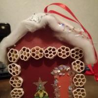 Мастер-класс «Елочная игрушка «Домик Деда Мороза»