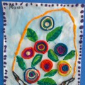 «Корзина с цветами». Кружковая работа. Пластилинография