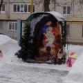 Снежные постройки и украшения участка в детском саду