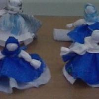 Поделка из ткани «Кукла-колокольчик»