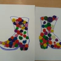 Конспект занятия по пластилинографии во второй младшей группе «Украсим сапожок»