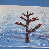 Мастер-класс по изобразительной деятельности в смешанной технике «Поет зима— аукает»