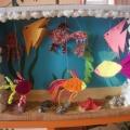 Коллективная работа по изготовлению сухого аквариума в средней группе