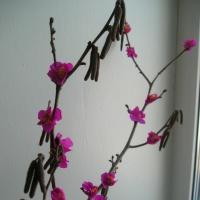 Мастер-класс по изготовлению поделки «Цветущая веточка» с пошаговыми фотографиями