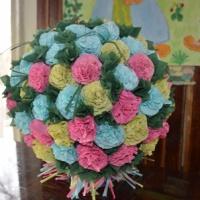 Мастер-класс «Цветочный шар из салфеток»