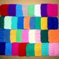 «Вязаные цветные квадраты». Дидактическая игра для старших дошкольников