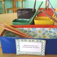 Дидактическая игра «Разноцветные палочки» для детей 4–6 лет