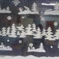 Зимняя сказка на окошках. Новогоднее оформление группы