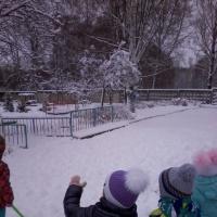 Конспект прогулки «Наблюдение за снегом»