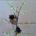 Поделка из природного материала «Синицы весной»
