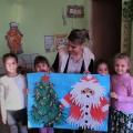 Аппликация «Новогодняя из детских ладошек»
