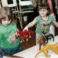 Изготовление работ с детьми 5–7 лет при помощи техники «Гипсопластика»