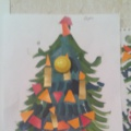 Конспект занятия по рисованию в старшей группе. Рисование с элементами аппликации «Наша елка высока»