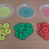 Дидактическая игра для детей младшего дошкольного возраста «Найди домик для пуговицы»
