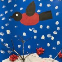 Мастер-класс по аппликации с элементами рисования «Снегири на ветке» для детей старшей и подготовительной группы