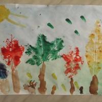 Мастер-класс «Нетрадиционные техники рисования с детьми дошкольного возраста. Рисование деревьев в технике «отпечаток»