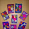 Мастер-класс по изготовлению подарочной открытки в технике ниткографии к 23 февраля «Салют» для детей 2–3 лет