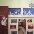 Фотоотчет об обновленном зимнем интерьере групповой комнаты и раздевалки