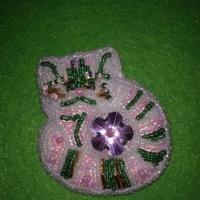 Мастер-класс по изготовлению брошки «Кот» из фетра, бисера, пайеток и стекляруса