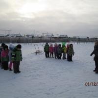 Фотоотчет о проведении соревнования на открытом воздухе зимой «Зимние забавы»