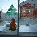 Конкурс на оформление окон «Дети встречают Новый год с героями сказок»