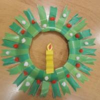 Мастер-класс из бросового материала «Рождественский венок»