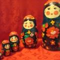 Дидактический материал для занятий с детьми дошкольного возраста. Матрёшки Полохов-Майдан выполненные в технике папье-маше.