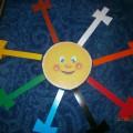 Дидактическая игра «Наряди солнышко» для детей младшего возраста