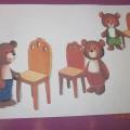Конспект НОД по аппликации «Стульчики для трех медведей» (младшая группа)