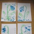 Фотоотчет о рисовании ватными палочками «Первые весенние цветы— подснежники»