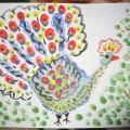 Мастер-класс по пальчиковой живописи для родителей вместе с детьми «Красавец Павлин»