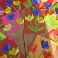 Детский мастер-класс «Букет тюльпанов» для мамы на 8 Марта.