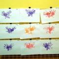Бабочка из ладошек. Нетрадиционная техника рисования