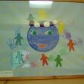 Коллективная работа первой младшей группы «Земля— наш дом родной». Нетрадиционная техника рисования и аппликация