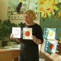 Конспект открытого занятия по рисованию «Солнышко, солнышко, раскидай колечки» (младшая группа)