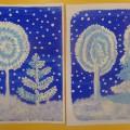 Зимняя сказка. Рисование деревьев в старшей логопедической группе (фотоотчёт)