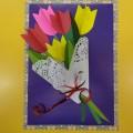 Мастер-класс «Подарок мамочке готов— большой-большой букет цветов». Объёмная аппликация (старшая логопедическая группа)