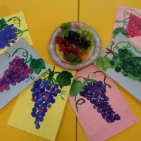 «Украшенье сада— грозди винограда». Рисование с использованием нетрадиционной техники в старшей логопедической группе