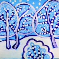 Рисование с использованием нетрадиционной техники изображения «Вот и зимушка настала. Всё кругом как в сказке стало»