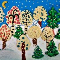 Мастер-класс коллективной работы детей по рельефной лепке «В белый снег весь лес одет» в старшей логопедической группе