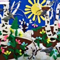 ООД по коллективной творческой деятельности. Аппликация «Из лесу аукнула весело весна» с детьми старшей логопедической группы