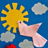 План-конспект занятия по аппликации с элементами оригами «Пусть небо будет голубым!» с детьми старшей логопедической группы