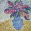 НОД. Рисование по теме «Сирень в вазе» (рисование нетрадиционным способом— на мятой бумагой)