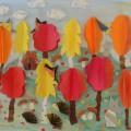 Мастер-класс «Осенний лес»— коллективная композиция (аппликация, оригами)