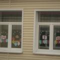 Оформление окна к 1 Мая и к 9 Мая